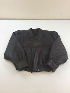 Size Jacket Coat Leather Excellent Vintage Condition Winter B755 Brown 46