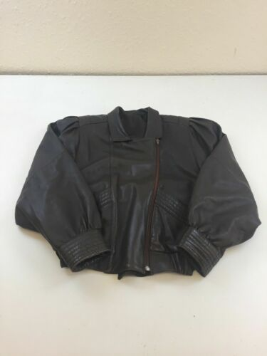Coat Brown Leather Excellent B755 Condition Winter 46