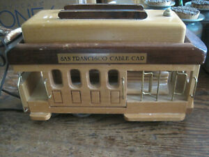 VTG-Tele-mania-WOOD-SAN-FRANCISCO-CABLE-CAR-Corded-Telephone-PULSE-amp-TOUCH-TONE