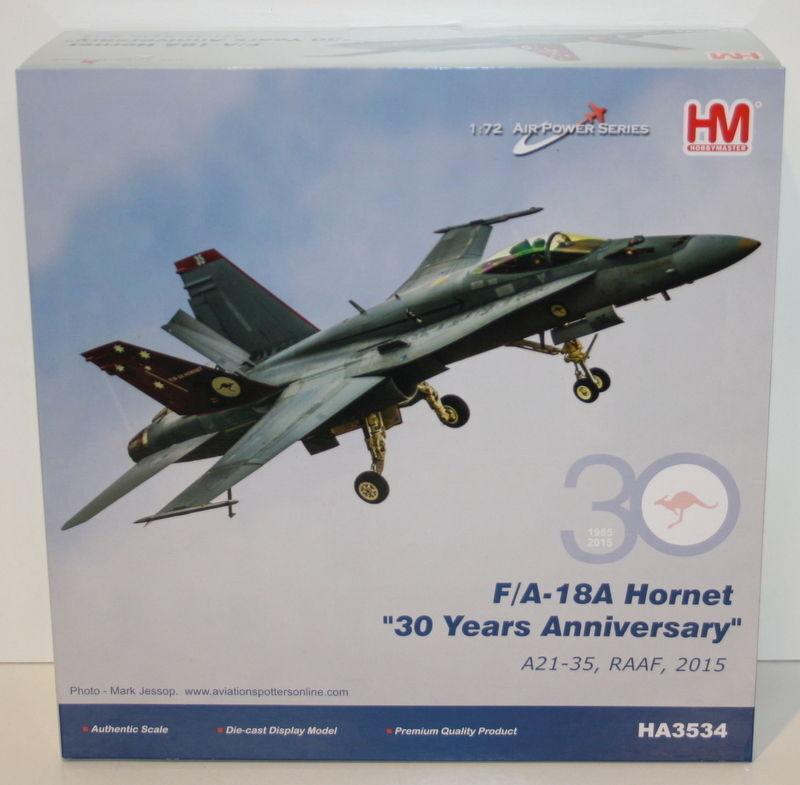 HOBBYMASTER 1/72 échelle HA3534-F/A 18 A HORNET HORNET HORNET 30 ANS ANNI diecast modèle réduit d'avion 9d140a