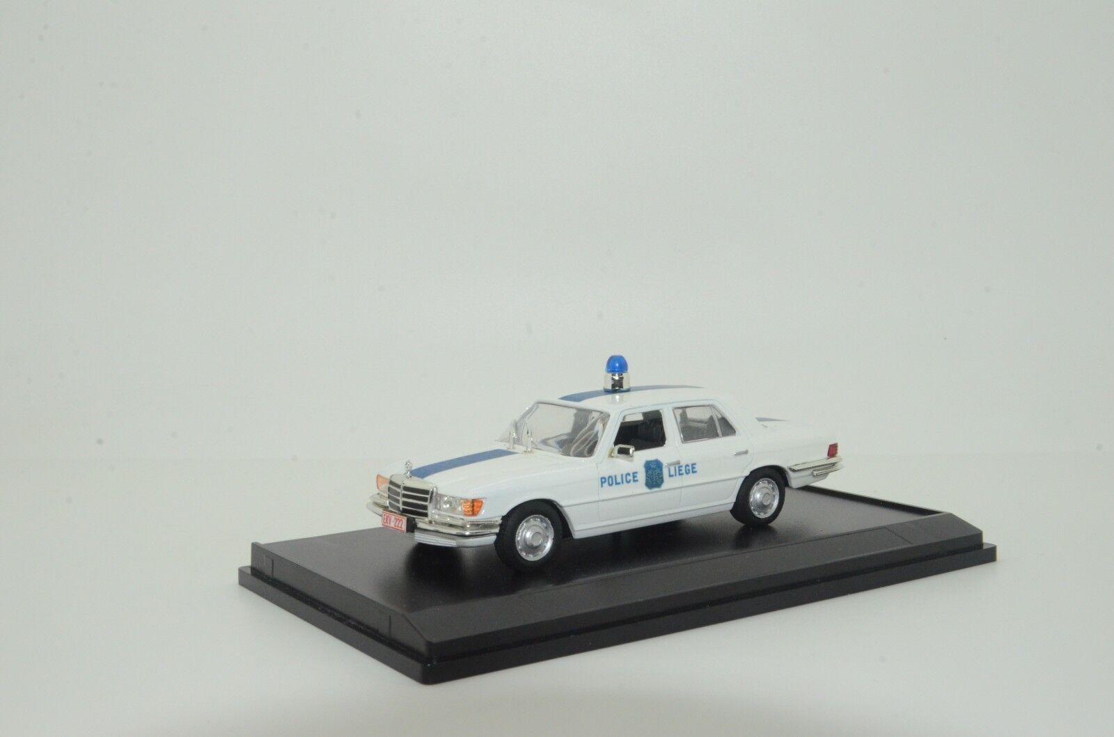 rara Mercedes W116 Bélgica policía Hecho a Medida 1/43