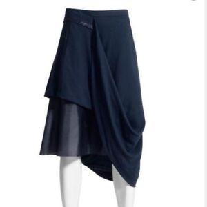 Maison-Martin-Margiela-x-H-amp-M-blue-hitched-midi-skirt-size-4-small
