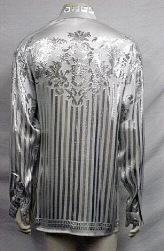 Metallic Vegas Vintage Last Creme Shirt Silk Nwt Lg 4471 Rare Mens De Grey 8qxHY1w