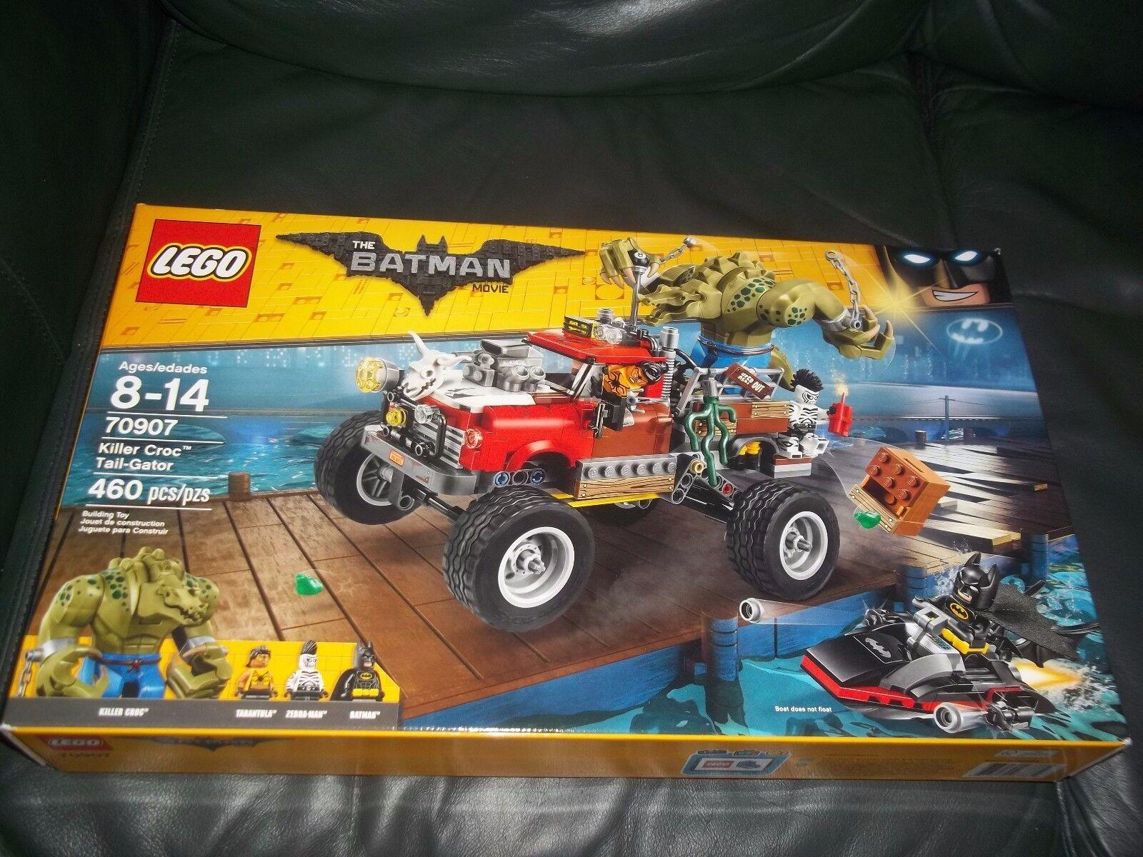 LEGO Batman Movie Killer Croc Tail-Gator 70907 Zebra Man, Trantula New