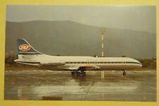 Jat-Yugoslav Airlines Sud  6N YU-AHE Dubroovnik in 1971 ~ Airline Postcard
