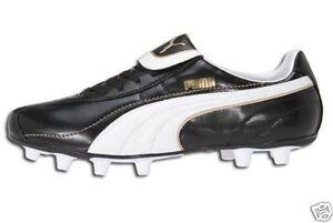Puma-Esito-FG-2009-Soccer-Shoes-Brand-New-Black-Gold-White-Brand-New
