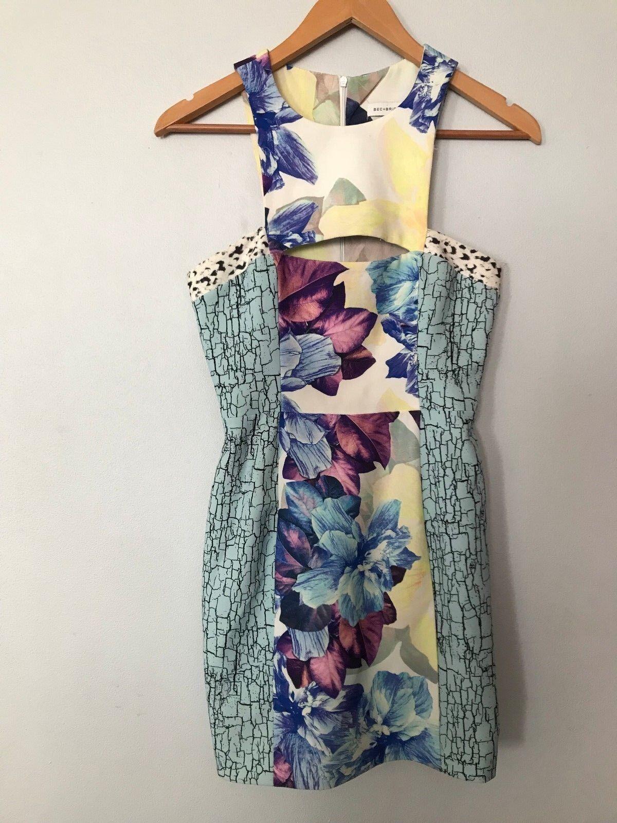 BEC & BRIDGE DRESS Anemone Cut Out Floral Dress Size S