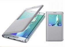 Original Samsung Galaxy S6 Edge+ Plus S-View Funda Flip EF-CG928 Plata
