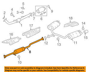 honda oem 13 17 accord 2 4l l4 exhaust system exhaust pipe rh ebay com honda accord exhaust system diagram honda accord exhaust system diagram