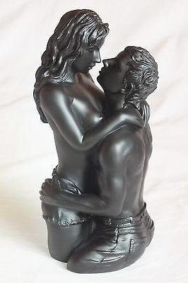 paar,akt,schwarz,22,5x10cm,figur,,erotik,pärchen,Nude,act,erotic