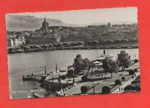 Switzerland - Geneva - Wharf And City (J6552)