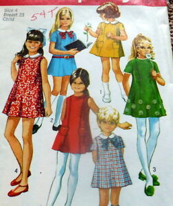 *LOVELY VTG 1960s GIRLS DRESS Sewing Pattern 4