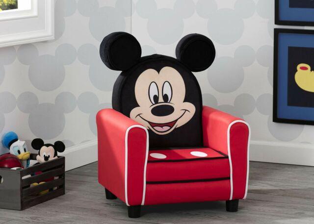 Disney Mickey Mouse Upholstered Kids Sofa Chair for Kids Toddler Room Furniture