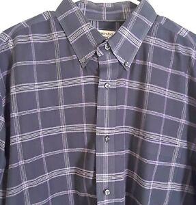 St-Johns-Bay-Men-039-s-XLT-Buttonup-Long-Sleeve-Multicolor-Plaid-Iron-Free-Shirt