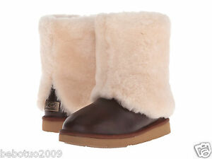 c80a2624a2c NEW WOMEN UGG AUSTRALIA BOOT PATTEN CHESTNUT LEATHER 1008823 ...