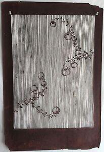 5dfe35dc8 Image is loading Large-Antique-Japanese-Kimono-Fabric-Stencil-Katagami -Print-