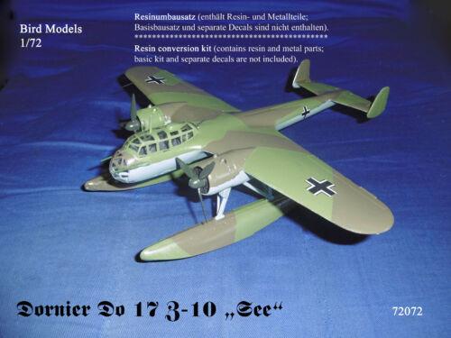 "Dornier Do 17 Z-10 /""See/""       1//72 Bird Models Umbausatz resin conversion"
