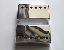 2x Chrome LP Humbucker Guitar Pickup Cover 50mm Neck/52mm Bridge fits Les Paul