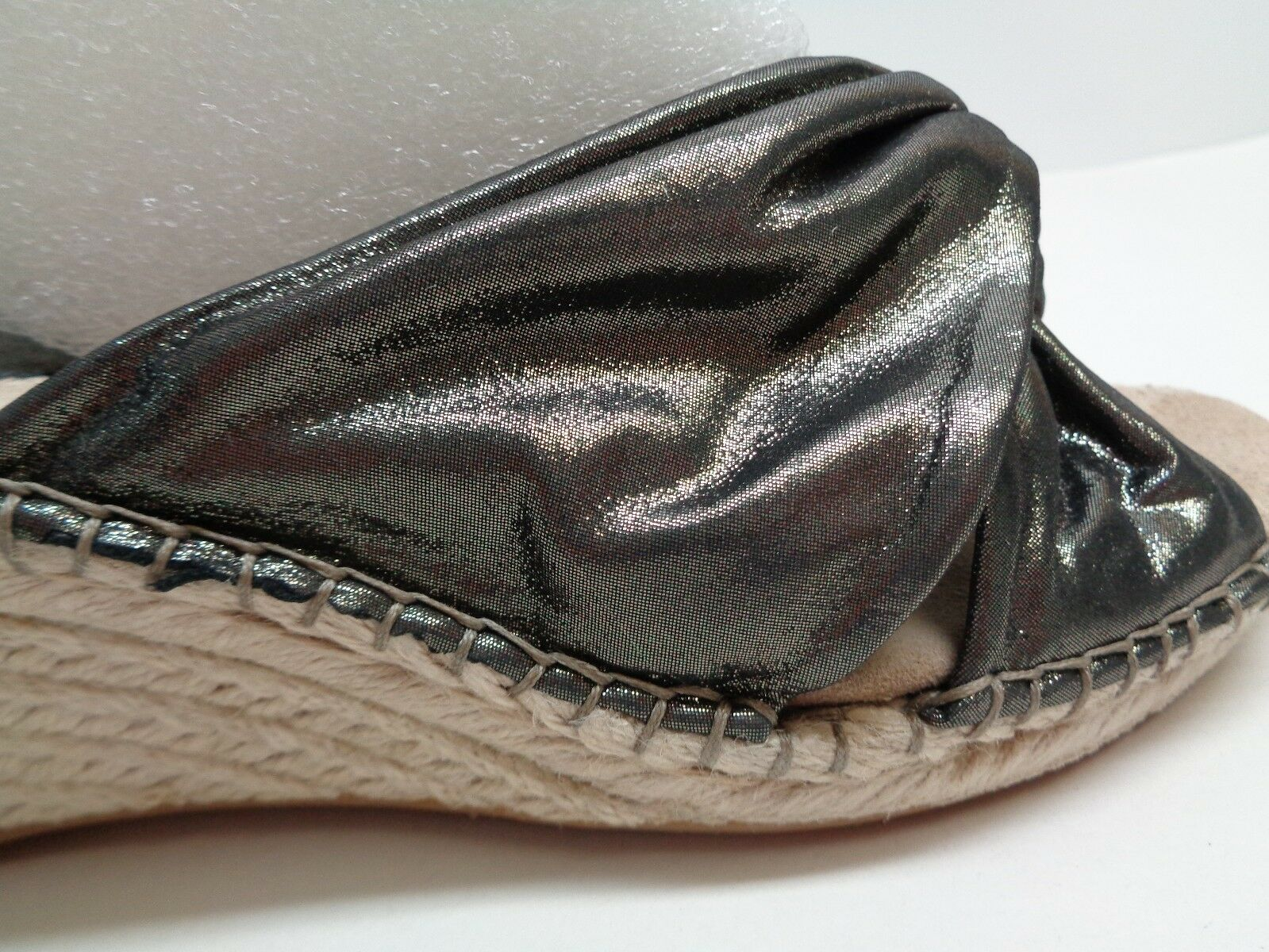 Johnston & Murphy Dimensione Dimensione Dimensione 7.5 M AINSLEY Pewter Suede Wedge Sandals New donna scarpe 4d842d