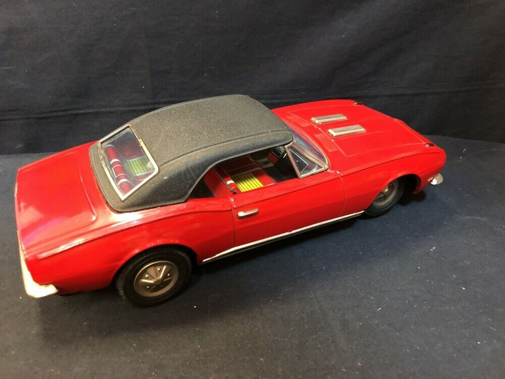 Nomura Nomura Nomura Toy Electric Tinplate Chevrolet Camaro Red Classic Car 280mm Vintage Rare 78f98c