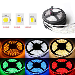 5M-5050-5630-3528-SMD-300-LED-Strip-Light-12V-Waterproof-IP20-or-IP65-White-RGB
