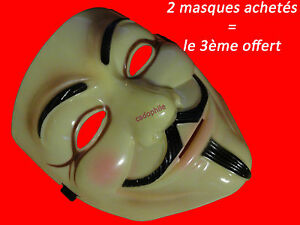 MASQUE-V-POUR-VENDETTA-ANONYMOUS-GUY-FAWKES-DEGUISEMENT-ADULTE-CREME-NEUF