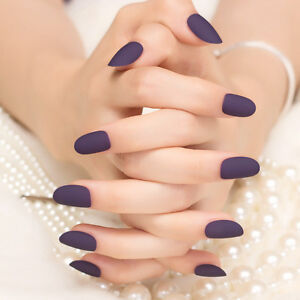 Image Is Loading 3 Colors 24Pcs Short False Nails Matte Solid