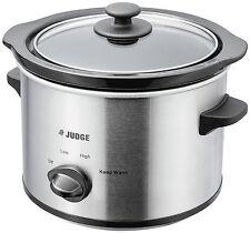 Judge Electrical Slow Cooker 1.5L Round Shape Prepare Serve Reheat Dishwasher
