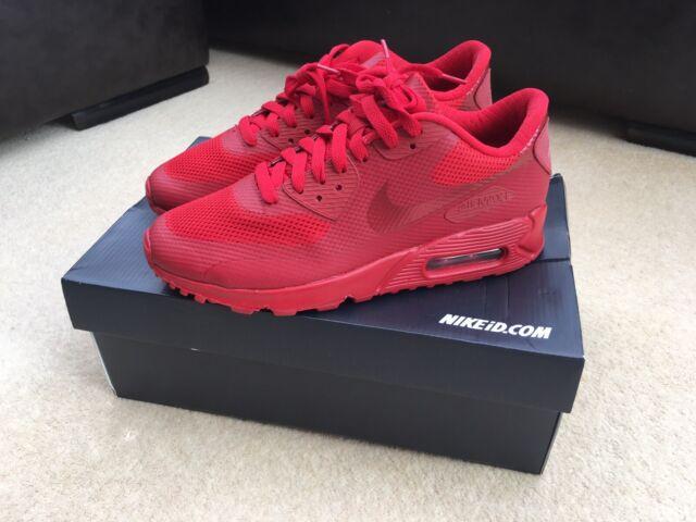 Nike Id Hyperfuse Air Max 90 UK 6 UK 7 Crimson Red