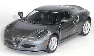 Brand-NEW-Alfa-Romeo-4c-Collectors-Model-1-32-Silver-Grey-Metallic-by-Kinsmart