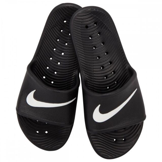 a7598128e9de Nike Women and Men Beach Shoes Kawa Shower Slide Bath Slippers Black ...