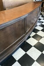Huge 18ft Custom Hardwood Retail Checkout Counter With Italian Cork Top