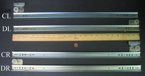 """POLY-BAGGED 3//4 EXTENSION ZINC-PLATED GRANT #338-24/""""-01 DRAWER SLIDES"""