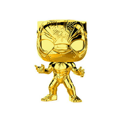 Marvel Studios 10 Vinyl Figure Gold Chrome BLACK PANTHER - New Funko POP