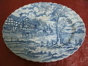 Vassoio MYOTT Royal Mail, ENGLAND Blu e Bianco 29x37 cm h 3,50 cm Vintage Tray