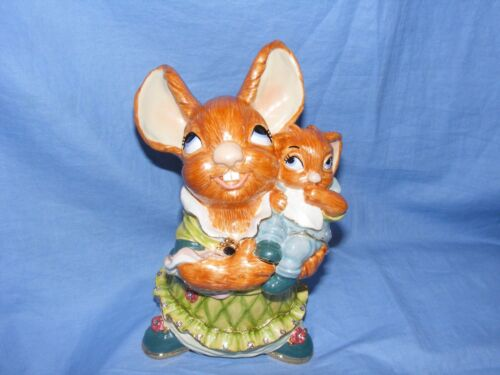 Pendelfin Pewter Enamel Jewelled Mother And Father Rabbits Limited Edition RARE