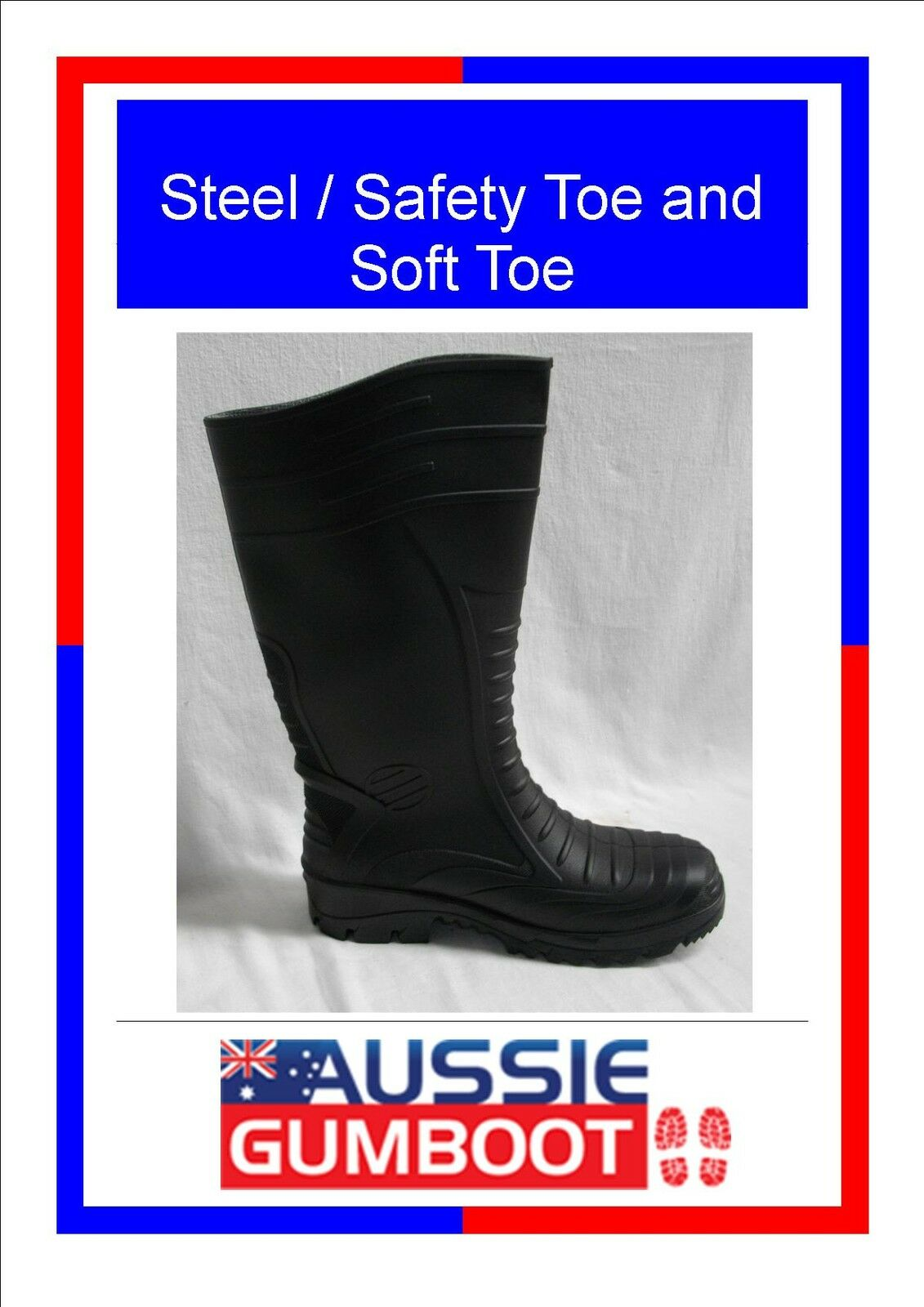 Gumboots Steel / Size Safety Toe Soft Toe Size / 4 5 6 7 8 9 10 11 12 13 Ladies Mens d0bd43