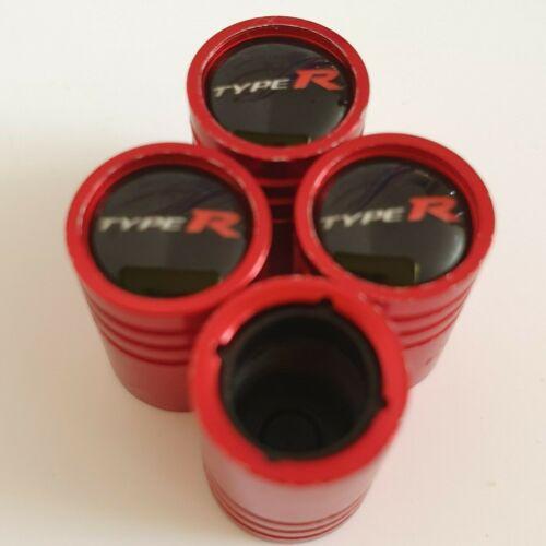 HONDA TYPE R Matte red valve Tyre Dust Caps Plastic Inside all models Non stick