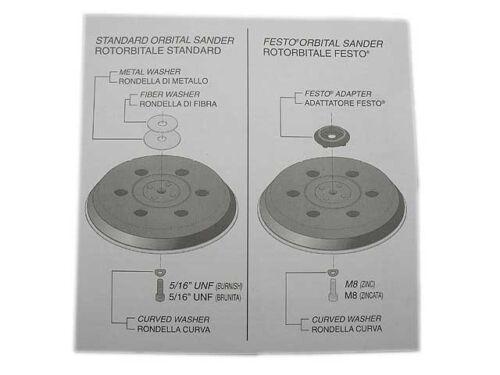 """Universeller Schleifteller Exzenterschleifer ⵁ 150mm Medium 5//16/"""" oder M8 Klett"""