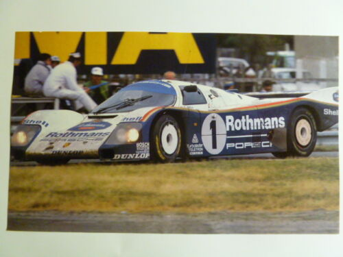 1987 Porsche Rothmans 962 Coupe Print Picture Poster RARE! Awesome L@@K