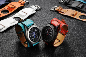 new genuine leather watch band cuff bracelet watch for samsung gear s3 frontier ebay. Black Bedroom Furniture Sets. Home Design Ideas