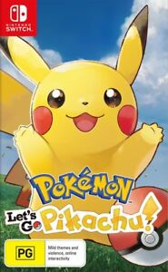 Pokemon Lets Go! Pikachu Switch Game NEW