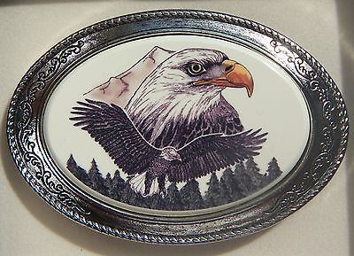 Belt Buckle Barlow Photo Reproduction In Color of Eagle Portrait 592689c NEW