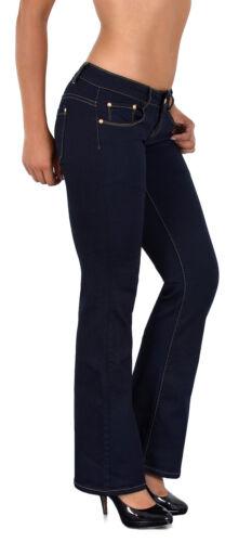 Damenjeans Hüfthose Jeans Bootcut Schlaghose Jeanshose Hüftjeans Hose J234