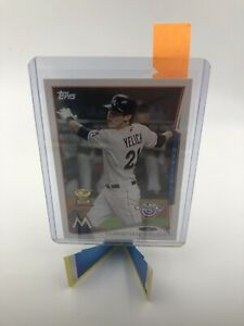 2014 Topps Christian Yelich Rookie Opening Day Card, Miami Marlins