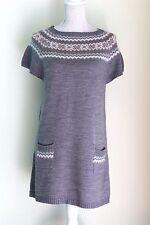 Size 14 PAPAYA Grey Jumper Dress Lambswool Angora VGC (276)