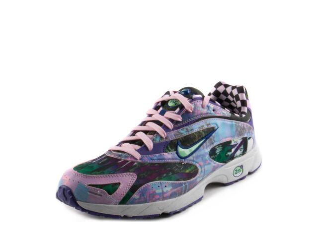 6a770abca92f5 Nike Mens ZM Streak Spectrum Plus Prem Court Purple LT Poison Green AR1533- 500