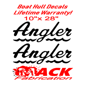 Decal Sticker Graphic Kit 2x CUSTOM BOAT YACHT NAMES Shadow//Outline 1200mm