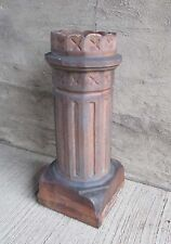 "Antique Chimney Pot - Scalloped Top & Fluted Sides Fired Clay 29 1/4"" (#4)"