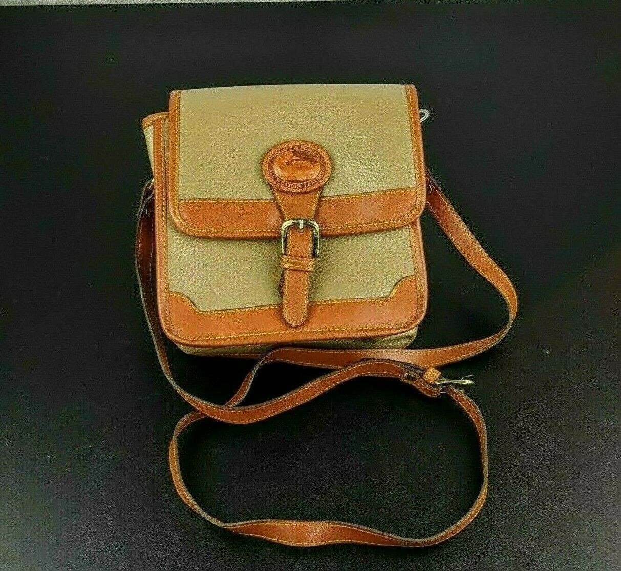 Dooney & Bourke Tan Brown Small Purse Handbag Tra… - image 1